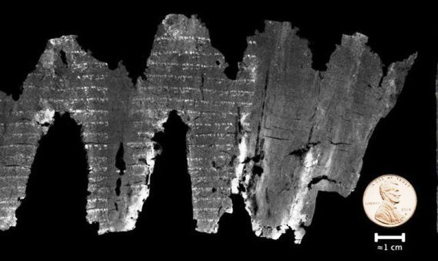 """Seales escribió: """"Estas imágenes revelan que el rollo de En-Gedi es el libro de Levítico, lo que hace que sea el ejemplo más antiguo de un libro del..."""