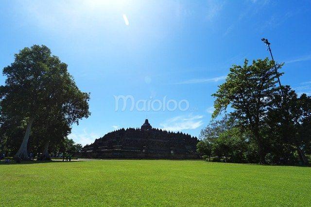 Pemandangan Sebelum Pulang di Candi Borobudur