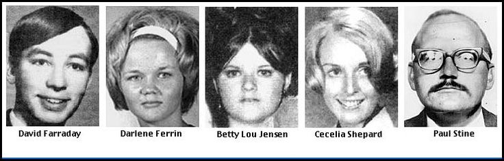 """The Zodiac Killer targeted mostly couples from 1968 to 1969. 4 men & 3 women between the ages of 16-29 were shot or stabbed; 5 died. The killer got the name """"Zodiac"""" in a series of letters sent to the press. The letters included facts only the killer could have known & contained a code he claimed would reveal his identity. The final letter from the killer was received in 1974. The case remains open."""