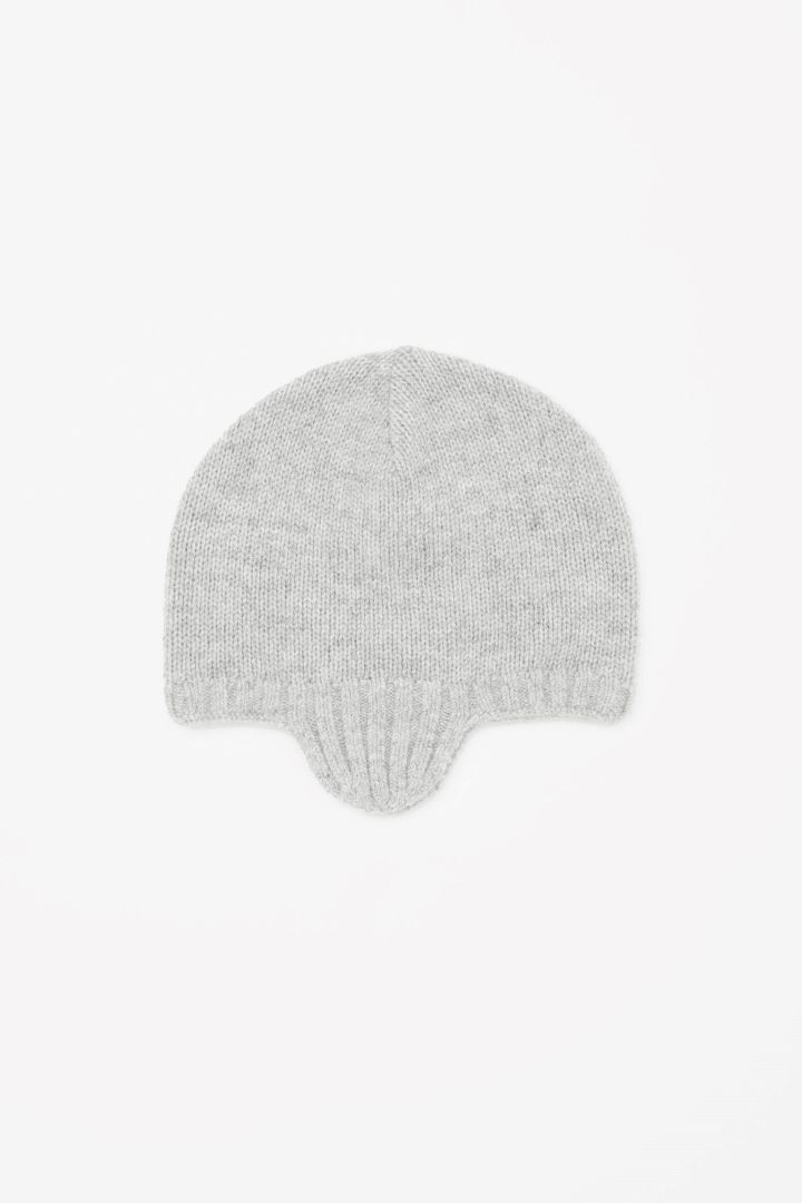 COS image 1 of Cashmere hat in Light Grey