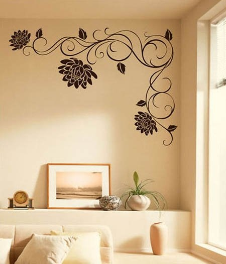 [listed in stock]-Modern Wall Sticker-5 pieces drop ship Mural Wall Decal Vinyl Sticker SWIRLING LOTUS