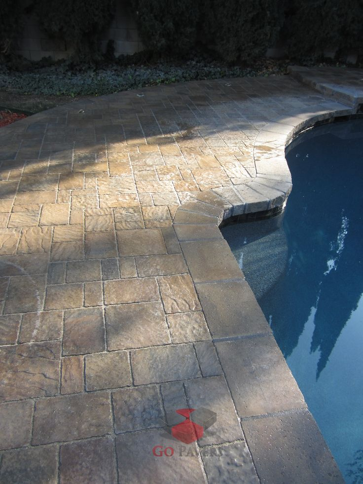 West Hills – Paver Pool Deck, Pool Coping, and Patio – Belgard Urbana – Bella color – View 4 - GoPavers.com