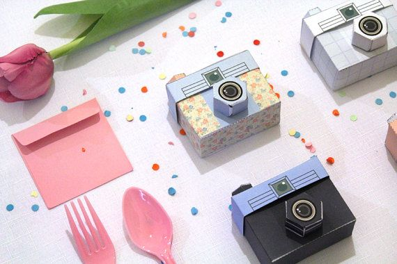 4 Paper Cameras Printable PDF TOUGHIE Cameras by girliepains