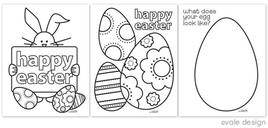 Free Easter Coloring Pages...going to print some off and add them to the kids easter egg hunt bags...