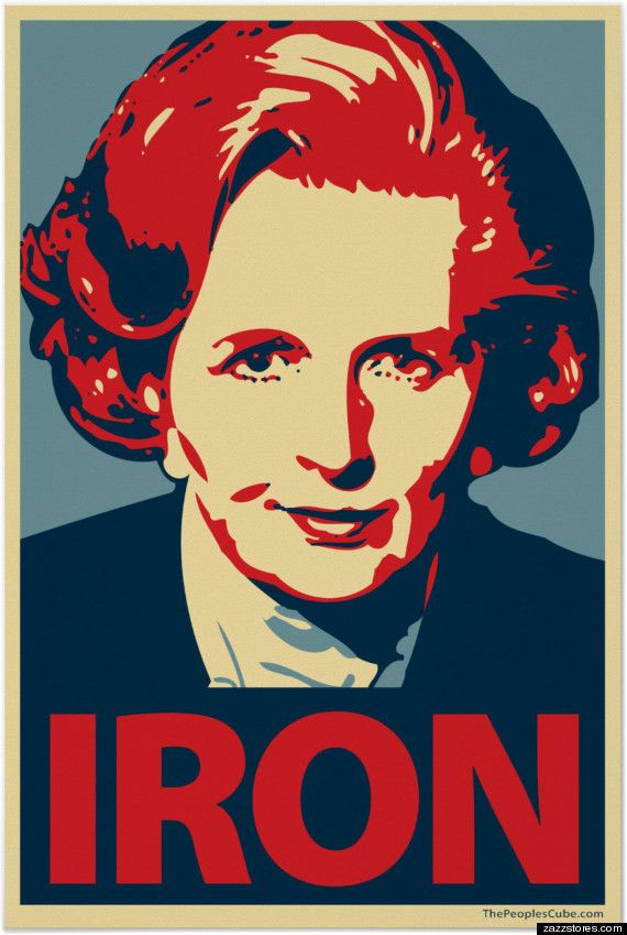 Margaret Thatcher Iron Poster