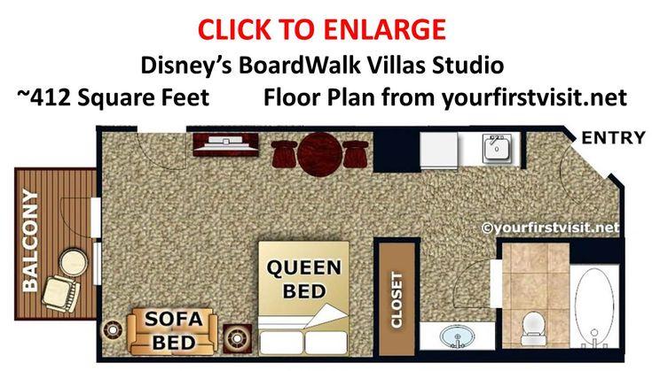 Disney Polynesian Bungalows Floor Plan: Photo Tour Of A Studio At Disney's BoardWalk Villas
