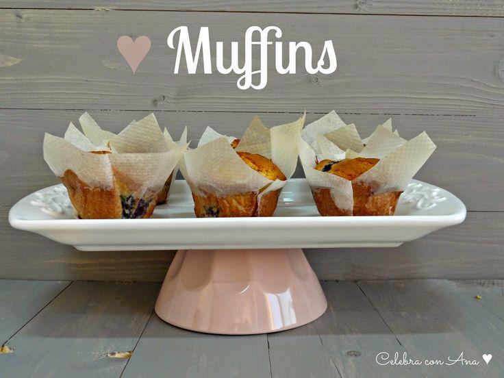 Celebra con Ana: ♥ Muffins de arándanos y crema de queso