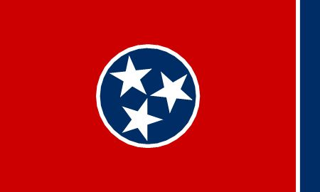 Free Tennessee flag graphics, vectors, and printable PDF files. Get the free downloads at http://flaglane.com/download/tennessee-flag/