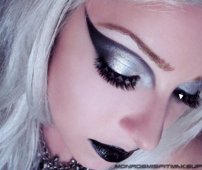 dark makeup look
