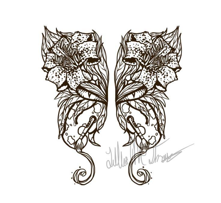 рисунки цветов татуировок