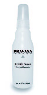 Pravana Keratin Fusion Thermal Insulator(heat protectant for hair). Smells great and is very light/non greasy!