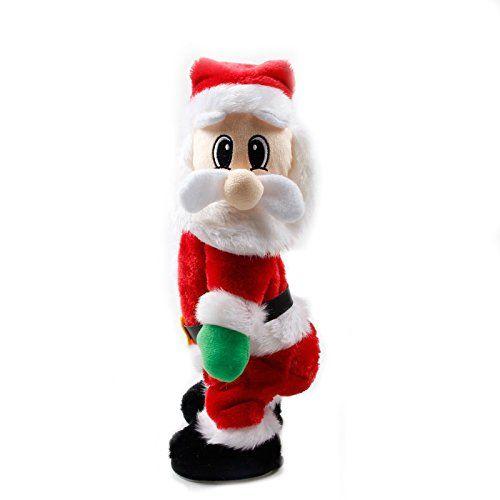 Zantec Ecletric Père Noël Figure jouet pour enfants Décorations de Noël cadeaux de Noël de Noël poupée électrique Alimenté par batterie…