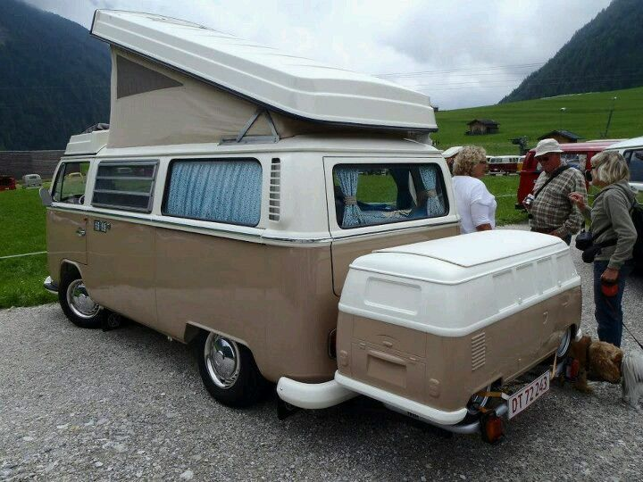 VW Camper Bus --------w/ unique, add-on rear compartment .