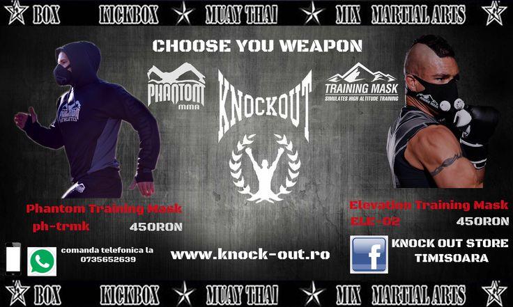 Devin-o un luptator mai bun cu noua colectie de training mask de la Knockout Store!
