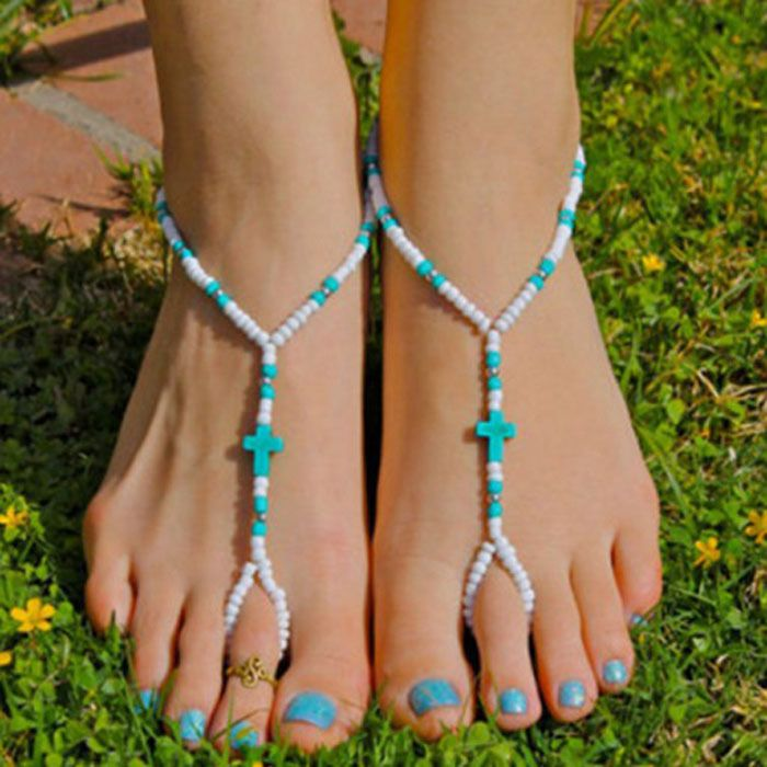 beaded anklets - Google Search