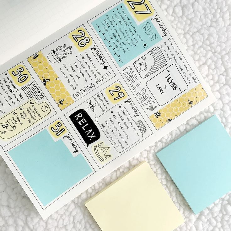 """intellecta: """" 01.30.17 // turquoise + honeycomb yellow here's a peek of my newly started daily journal. it turned out better than i expected tbh. i hope i'll be able to commit and finish the whole..."""