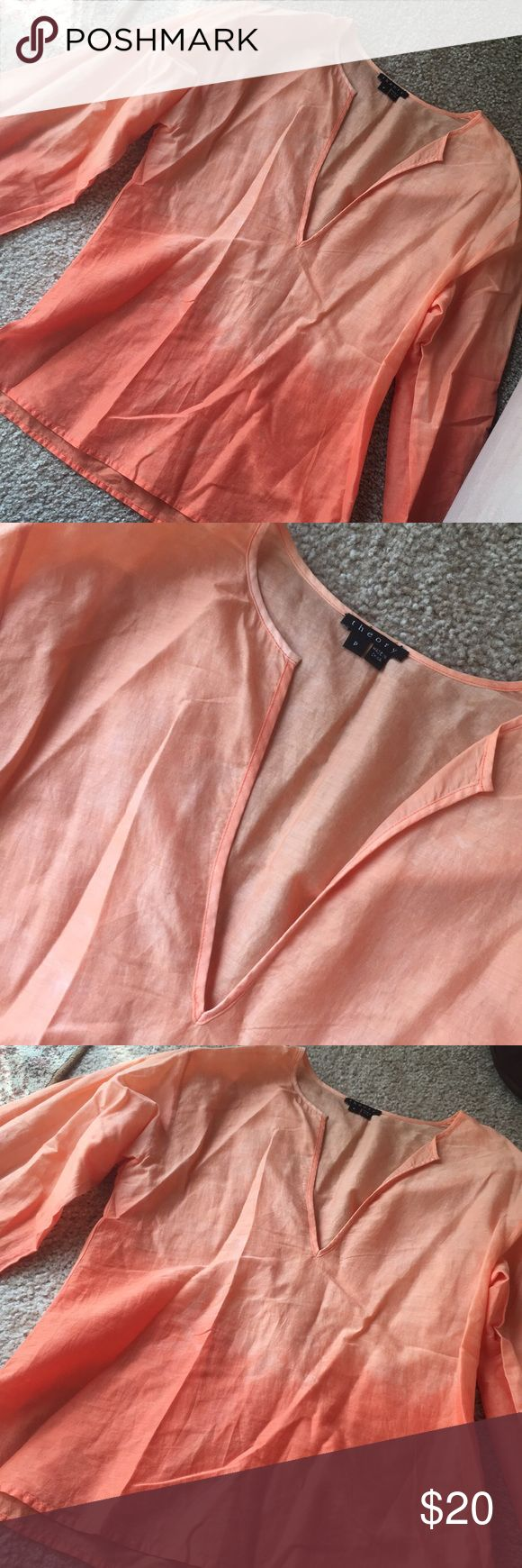 Theory Top Amazing condition ...unique colors. Size petite ..fits like a small. Check out my theory orange jacket that matches with this shirt! Bundle both for 15% off! Theory Tops