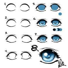Manga Augen malen – eine Anleitung für Anfänger