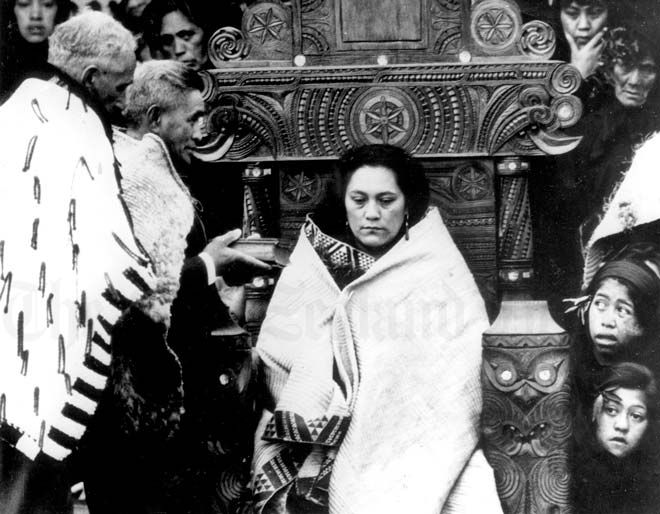 Princess Piki being anointed to become Maori Queen 1966 Aetearoa New Zealand