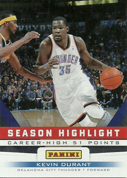 2012 PANINI FATHER'S DAY #3 KEVIN DURANT THUNDER 50 CENT SHIPPING…