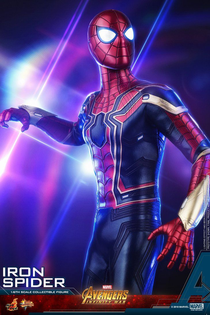 Hot Toys Reveals Their Incredibly Cool Avengers Infinity War Iron Spider Action Figure Geektyrant Marvel Spiderman Spiderman Iron Spider