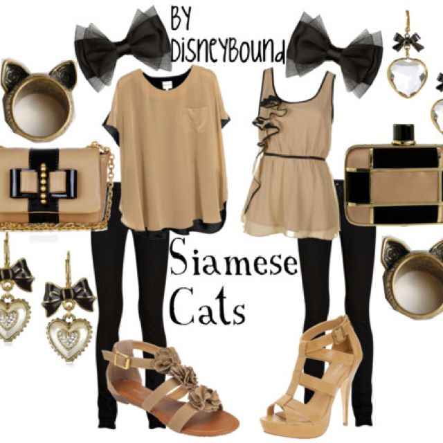 Disneybound--siamese cats