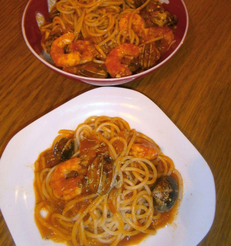Espaguetis marineros (A la marinera) ~ La Cocina de la Abuela