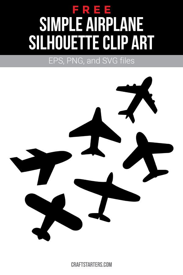 Free Simple Airplane Silhouette Clip Art Airplane Silhouette Silhouette Clip Art Clip Art