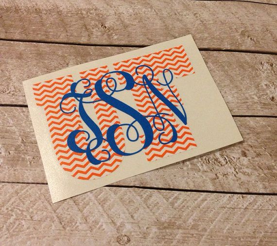 University Of Florida Gators Monogrammed Personalized Car Decal