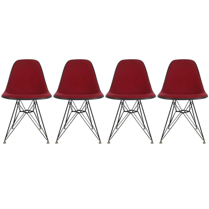 Set of Four Mid-Century Modern Charles Eames for Herman Miller Dining Chairs