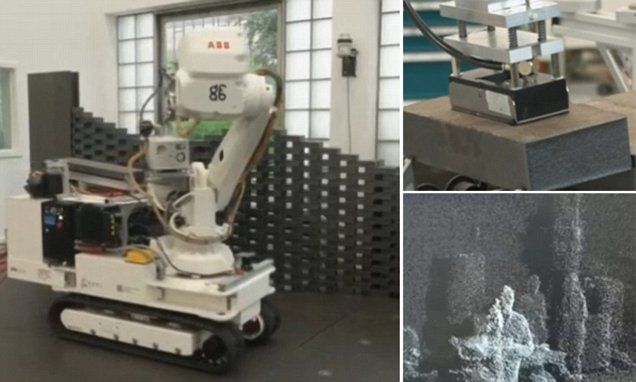 Bricklaying robot can move around building sites without human help