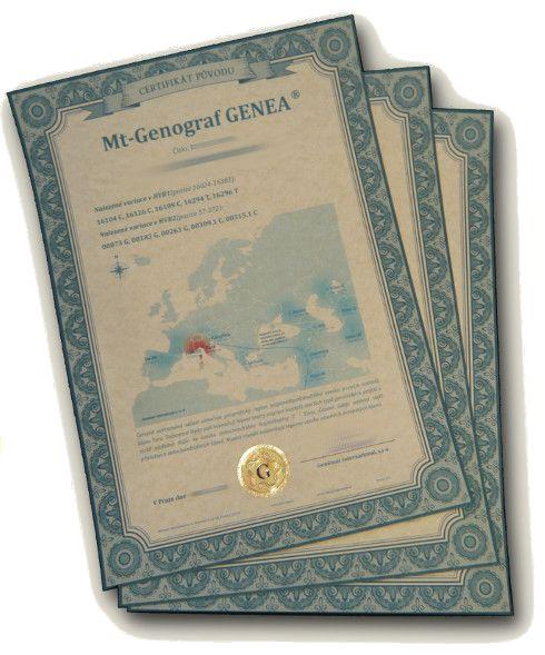 Certifikát Genograf