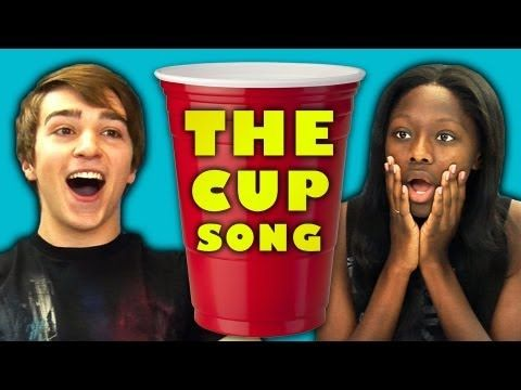 ▶ TEENS REACT TO THE CUP SONG origins of 1930s era song and original duo who put cup game to the song all copied by pitch perfect movie! - YouTube
