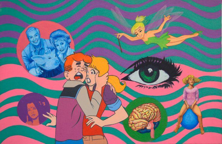 Archie is afraid, Acrylic on canvas, 40 x 60 cms.
