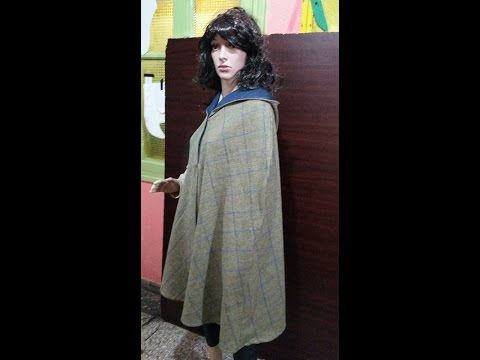coupe Manteau cape - YouTube