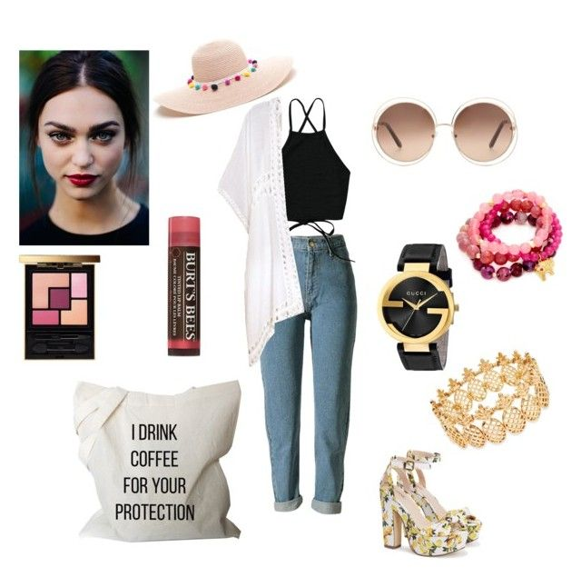 """""""Untitled #332"""" by gloriatovizi on Polyvore featuring Do Everything In Love, Gucci, Chloé, Yves Saint Laurent, Burt's Bees, INC International Concepts and Good Charma"""