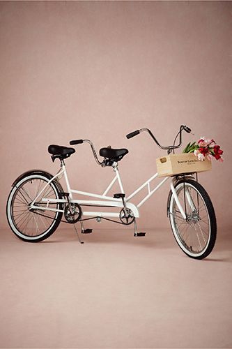 14 Unique Wedding Gifts That'll Earn You Major Brownie Points #refinery29  http://www.refinery29.com/50746#slide5  Bowery Lane Tandem Bicycle, $1,500, available at BHLDN.