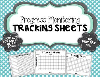 Free Progress Monitoring Tracking Sheets
