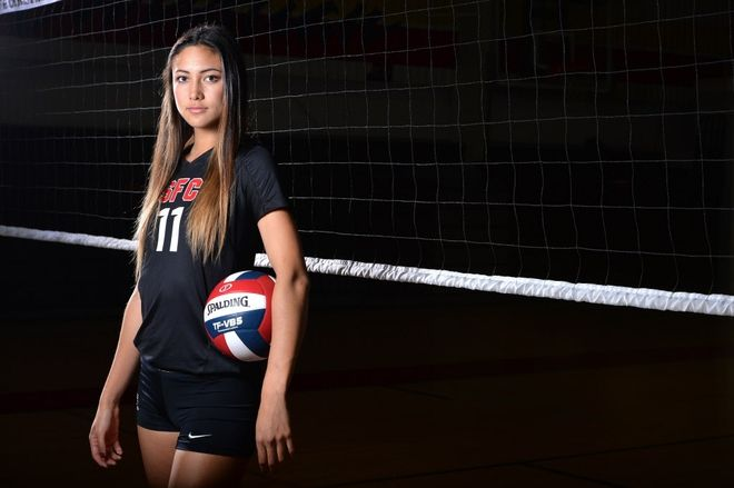 All Usa Volleyball Player Of The Year Lexi Sun Sante Fe Christian Solana Beach Calif Usa Today High Girl Golf Outfit Volleyball Players Usa Volleyball