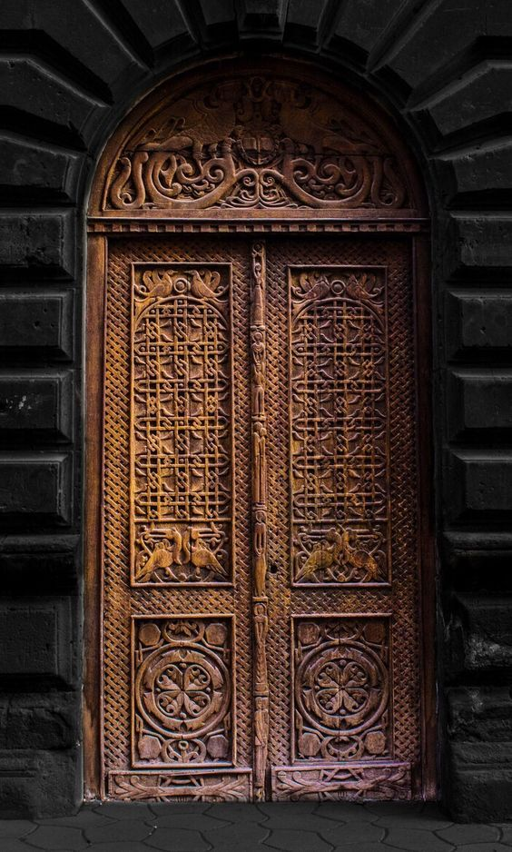 Colors ~ Black and Brown. Doors.