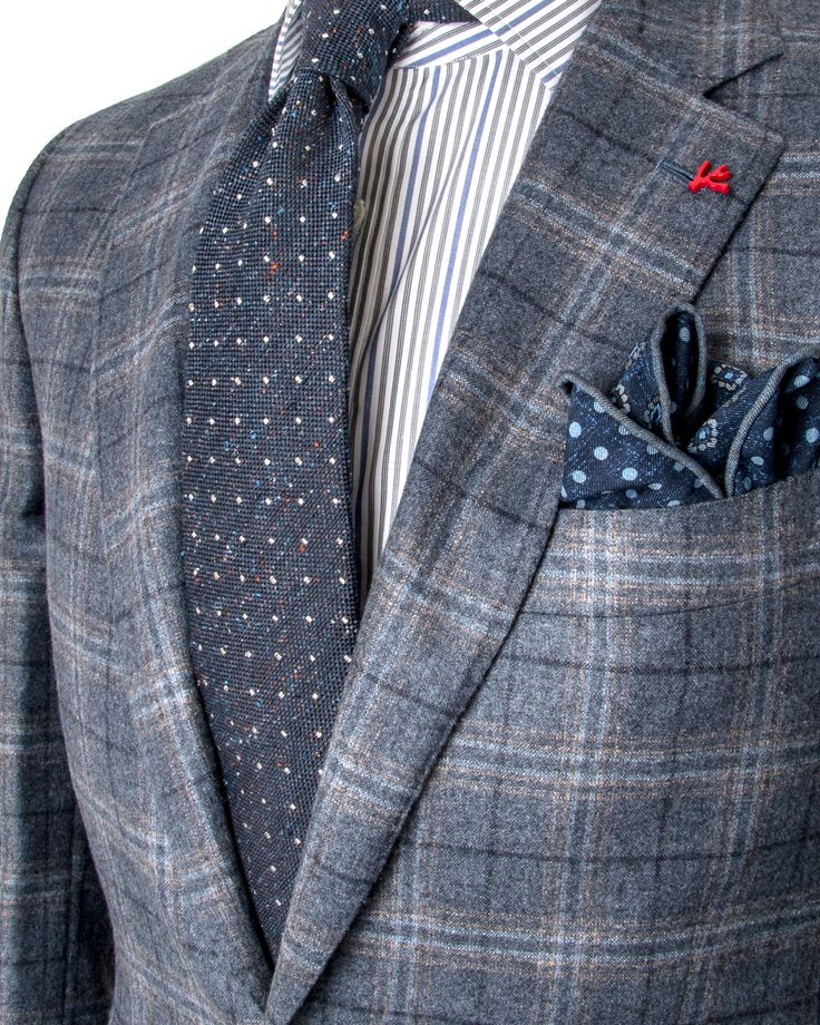 Image of Isaia Blue Plaid Sportcoat