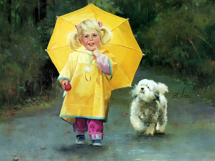 Donald Zolan Oil Painting: Oil Paintings, Donald O'Connor, Isolated By 19372009, Rainy Day, Donald Bottom, Donaldzolan, Kids Art, Paintings Pictures, Ears Childhood