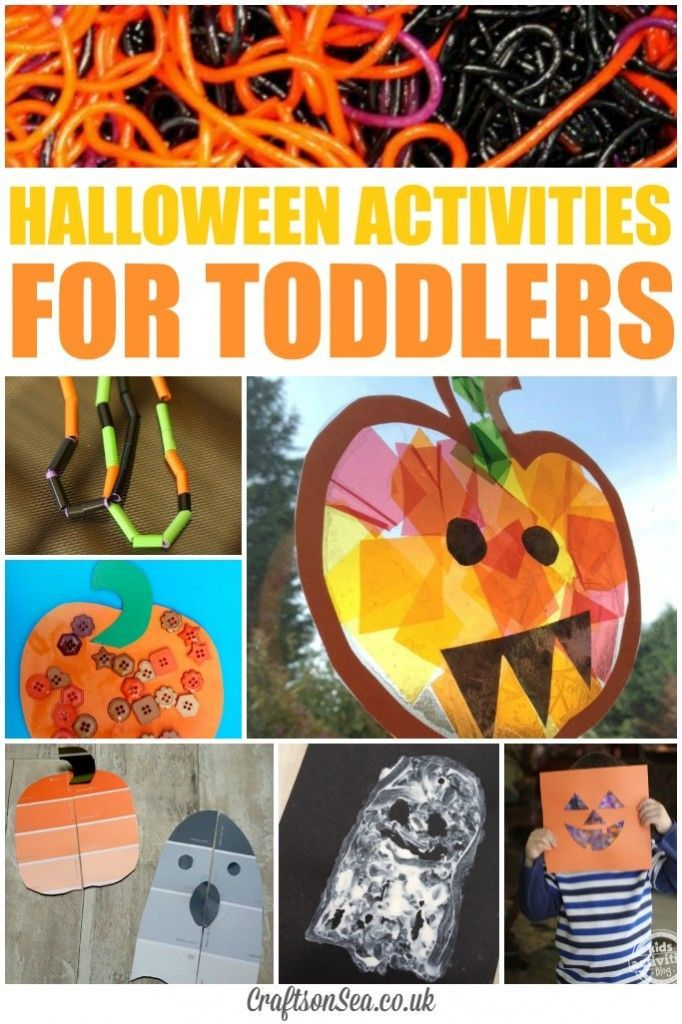 Create some simple and thrifty paint chip halloween puzzles plus get more inspiration with these fun halloween activities for toddlers.