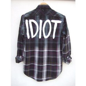 Ombre Idiot Michael Clifford 5SOS inspired Plaid Shirt
