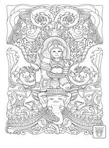 Vivid Owl Coloring Free Design