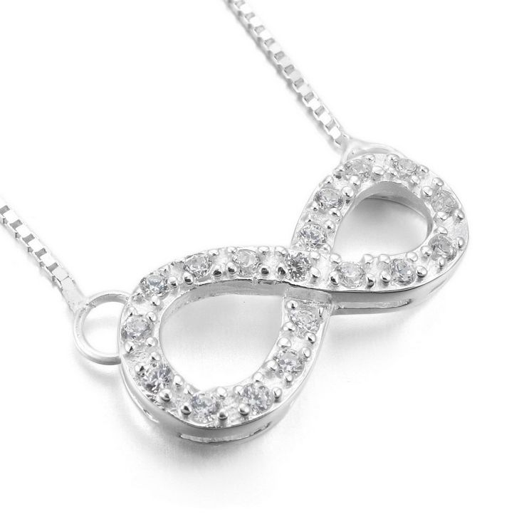 "INBLUE Women's 925 Sterling Silver Pendant Necklace Link Chain Infinity Symbol Love Friendship. Size: 0.35 x 16.93 inch. Size: 9.0 x 430.0 mm. Metal: Sterling-silver. Please check out 1000s Jewelries we offer. Including a velvet bag printed with Brand Name ""INBLUE""."