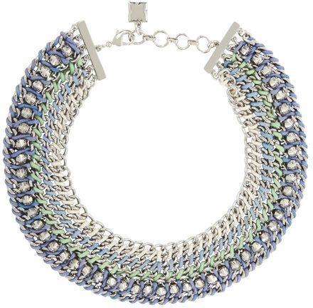 BCBGMAXAZRIA Woven-Chain Spike Necklace