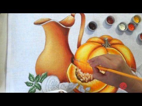 Jarro, Abóbora e Tomates em Tecido (Aula 58/ Parte 1) - YouTube