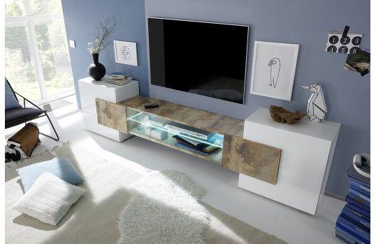 meuble tv design lumineux castilla meuble tv pinterest amenagement s jour meuble tv et tv. Black Bedroom Furniture Sets. Home Design Ideas