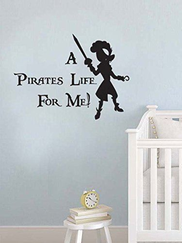 Peter Pan Inspired a Pirates Life for Me Vinyl Wall Decal Sticker #LuckyGirlDecals #beautiful #budget #custom #cute #decal #decals #decor #decorating #design #family #fun #gifts #graphics #happy #home #homedecor #interiordecorating #interiordesign #lettering #letters #love #luckygirldecals #oracal631 #personalized #pretty #quote #quotes #remarkablewalls #sticker #stickers #style #vinyl #vinyldecal #vinylfilm #vinylwalldecal #wall #wallart #walldecal #walldecor #wallquote #wallquotes…